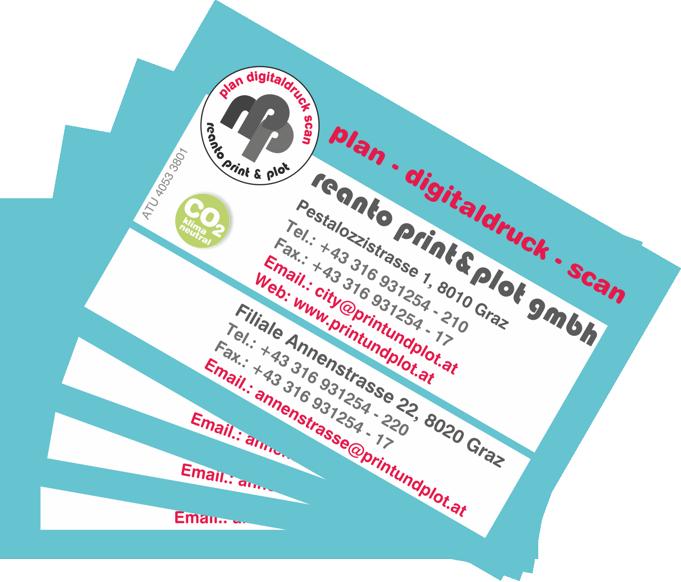Visitenkarten Und Mehr Print Copyshop Graz